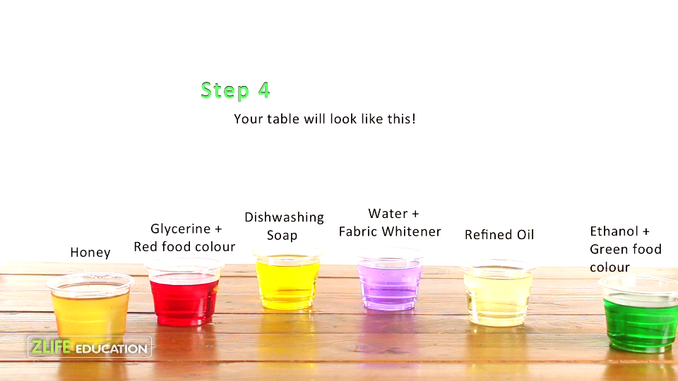 Color Density Tower Science Experiment Fo Kids