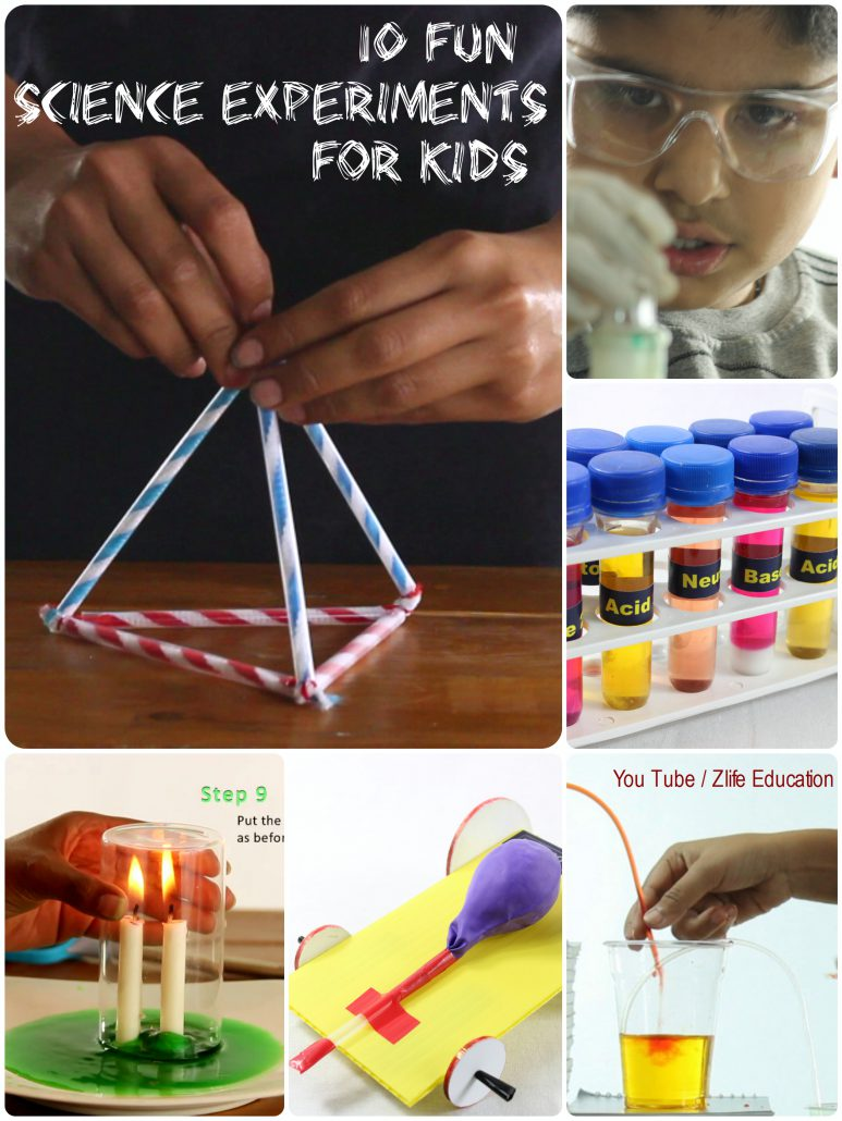 Top 10 Fun Science Experiments for Kids at home with Youtube