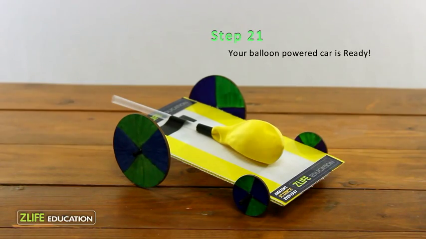 Balloon Powered Car-Experiment Step 21