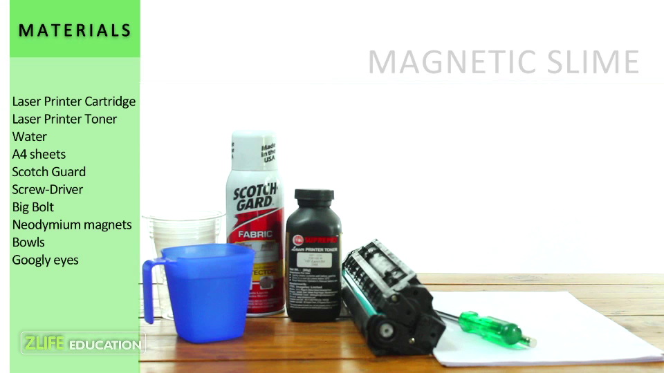 how to make magnetic slime without iron powder