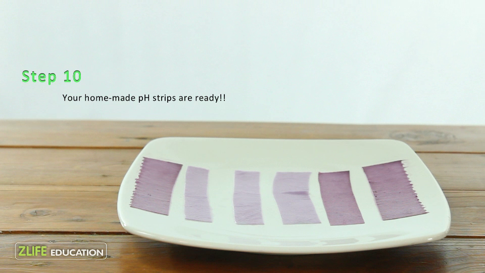 Red Cabbage pH strips 4