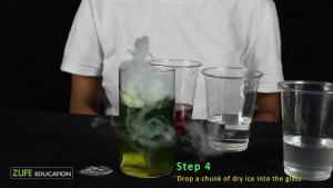 Dry Ice Color Change Experiment step 4