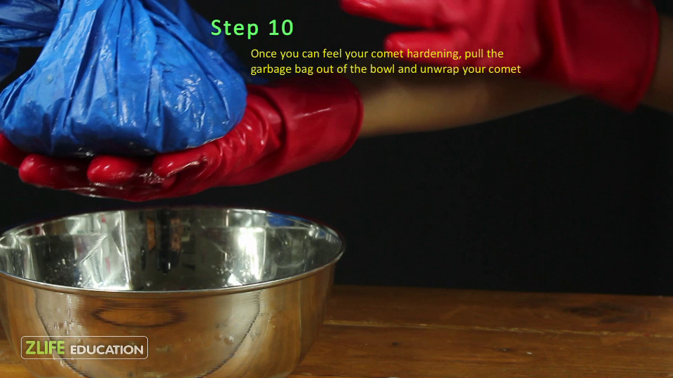 Dry Ice Comet Experiment Step 10