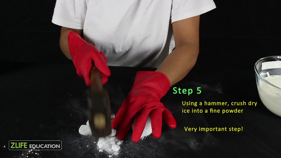Ice Cream Making with Dry Ice - Edible Experiment for Kids 5